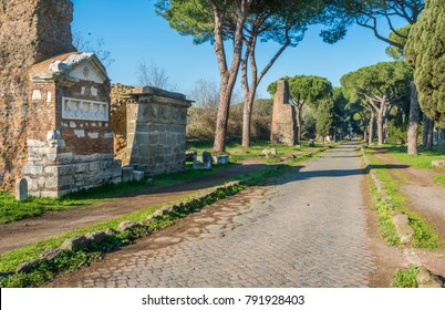 The ancient Appian Way (Appia Antica) in Rome.