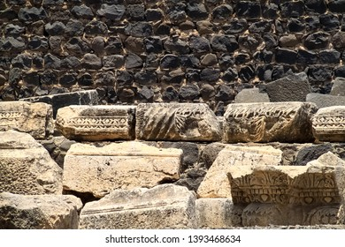 Ancient archaeological remains of the town of Capernaum, which was the home of St. Peter and Jesus