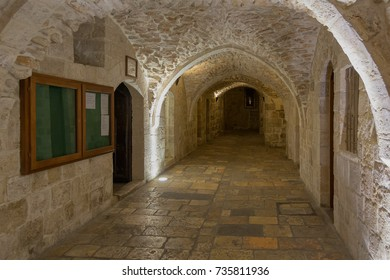 Ancient arched pass to Armenian quarter in Old City of Jerusalem. Israel.