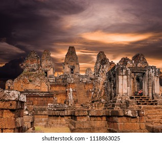 Ancient Architecture in Angkor , Siem reap,Cambodia, was inscribed on the UNESCO World Heritage List in 1992.