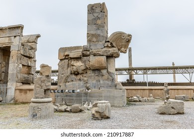 Ancient architecture and ruins of Persepolis, the ceremonial capital of the Achaemenid Empire. UNESCO World Heritage