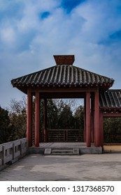 Ancient architecture of Xuangong Garden in Rucheng Ruins, Puyang City, Henan Province