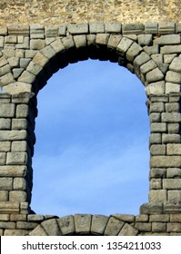 Ancient archway in the ruins of the Roman Aqueducts