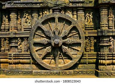 Ancient art work of Wheel Of Chariot