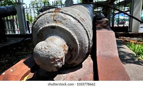 Ancient artillery in Bangkok