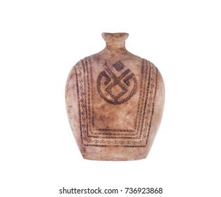 ancient asian clay vessel