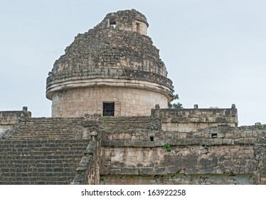 An ancient astronomical observatory in Chichen Itza Mayan city, Mexico