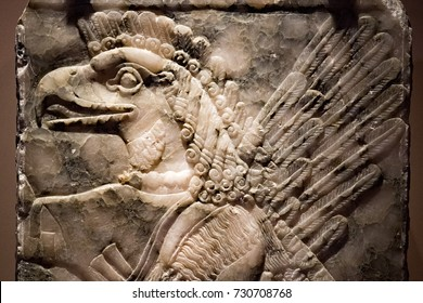 Ancient Babylonia and Assyria bas relief from king Ashurnasirpal Nimrud Palace