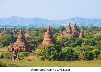 Ancient Bagan on a sunny day. Myanmar (Burma)