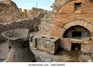 Ancient bakery in the ruins of Pompeii