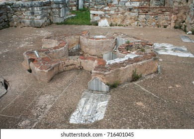 Ancient baptismal font from Ancient Philippi are from the area known as the Bishop's palace which date as early as the 4th century BC.