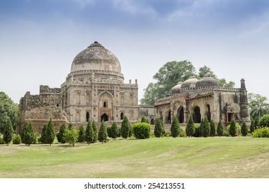 Ancient Bara Gumbad Tomb, Lodi Gardens, New Delhi, India