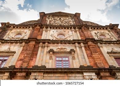 Ancient Basilica of Bom Jesus church at Goa, India.
