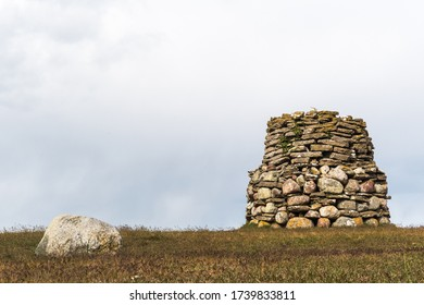 The ancient beacon by Hogenas Orde on the island Oland in Sweden