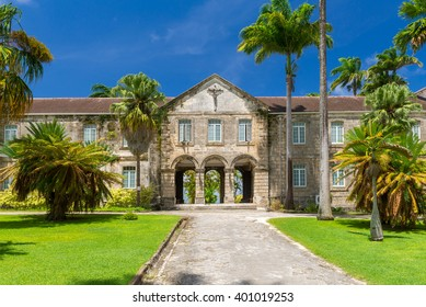 ancient beautiful building of Codrington College, Barbados