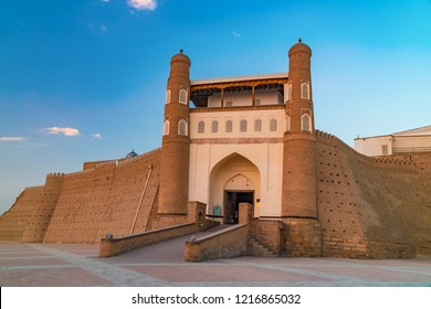 Ancient beautiful fortress Ark in Bukhara, Uzbekistan