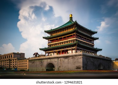 The ancient Bell Tower of Xian, China.