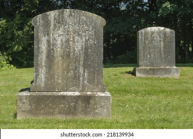 Ancient Blank Tombstones