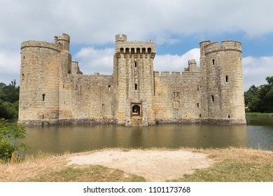Ancient Bodiam castle in Sussex England United Kingdom