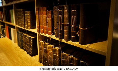 Ancient books in the library