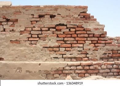 Ancient boundary wall of  Omarkot Fort in Sindh