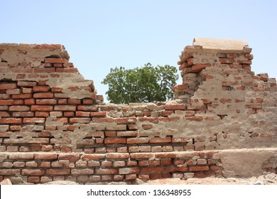 Ancient boundary wall of  Umarkot fort in Sindh