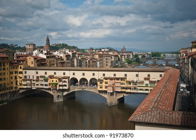 Ancient bridge in Florence, Italy