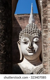 Ancient Buddha Statue Image. Sukhothai Historical Park, Sukhothai Province, Thailand