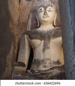 Ancient Buddha Statue at Sukhothai historical park,Thailand. 25th of November 2015