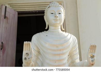 Ancient Buddha in Thai temple