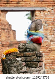 Ancient Buddhas At Temple(Thailand)