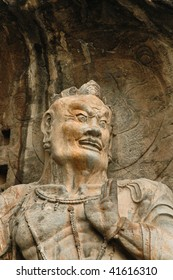 Ancient Buddhist cave statue (UNESCO world heritage) near  Luoyan city, China.