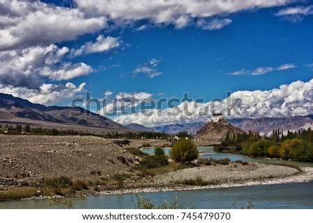 Ancient Buddhist Monastery Cold Desert Leh Stock Photo Edit Now