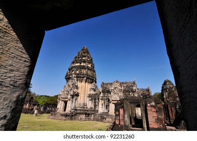 Ancient buddhist palace in Nakhon Ratchasima , The Phimai historical park , Thailand