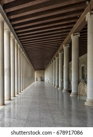 Ancient building in Ancient Agora of Athens/Stoa of Attalos