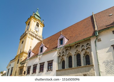 ancient building of Bratislava, capital city of Slovakia - Shutterstock ID 1516505096