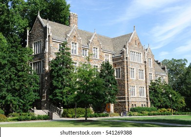 ancient building in Duke University NC