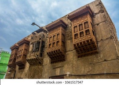 Ancient building in UNESCO world heritage historical village Al Balad, Jeddah - Saudi arabia