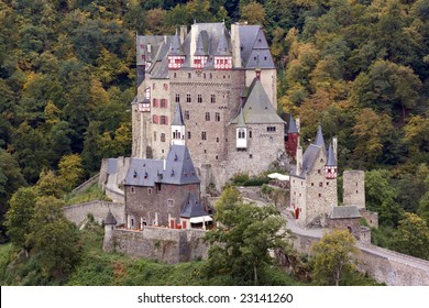 Ancient Burg Eltz Castle in the Autumn in Germany