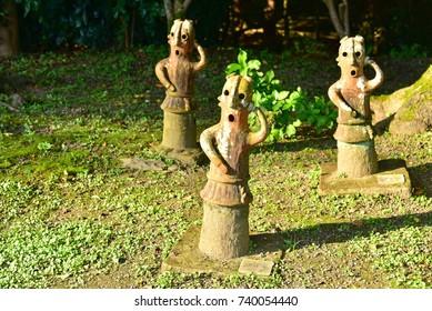 Ancient Burial Statues at Haniwa Garden