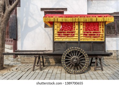Ancient car in the six art city of Confucius in Qufu, Shandong