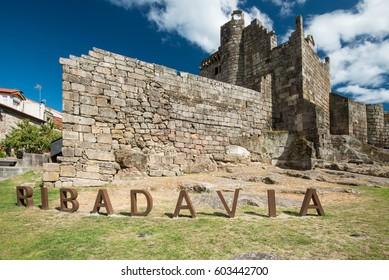 ancient castelo de Ribadavia, Galicia, provence Ourense, Spain, Europe