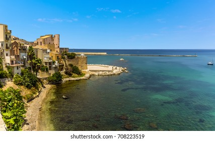 The ancient castle of  Castellammare del golfo, Sicily in summertime