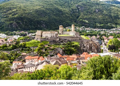 Ancient castle in the city Bellinzona, Switzerland