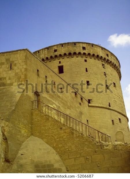 ancient castle closeup