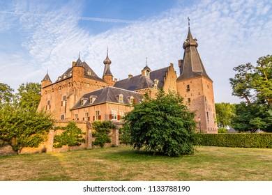 Ancient Castle Doorwerth build in the 13th century in Gelderland in the Netherlands