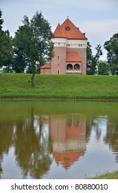 Ancient castle in Rzemien, Poland