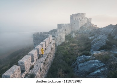 The ancient castle of snake, Adana,Turkey, freely accessible to tourists, is situated on top of a mountain and offers a beautiful panoramic view of the landscape.