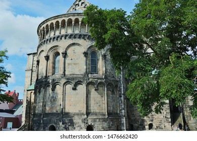 Ancient cathedral in the city of Lund Sweden.