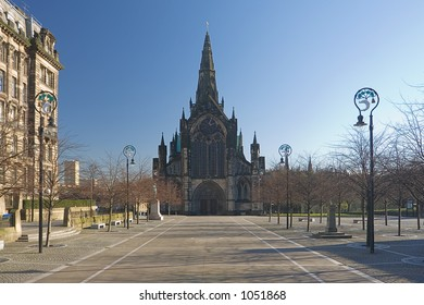 The ancient Cathedral of Glasgow, burial place of Saint Mungo, the city's founder.
